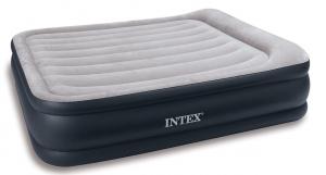 67736 Надувная кровать Deluxe Pillow Rest Raised Bed 152х203х43см с подголовником