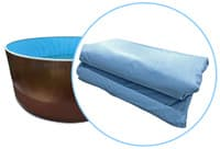 Чаша (пленка) голубая мозаика для бассейнов Azuro mountfield, Лагуна  4,57 х 1,35