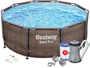 """Каркасный бассейн Bestway 5617R Steel Pro 305х100 см """"Ротанг"""", фильтр-насос"""