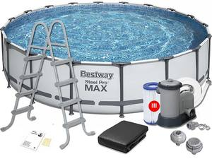 Каркасный бассейн Bestway 56462 Steel Pro Max 549х122см