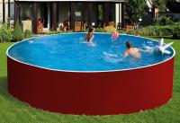Сборный бассейн ЛАГУНА 24416 круглый 244х125 см (красный)