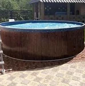 Сборный бассейн ЛАГУНА 30514 круглый 305х125 см (темное дерево)
