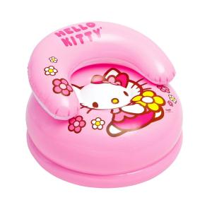 "48508 Надувное детское кресло 66х42см ""Hello Kitty"" Sanrio, 35 кг, от 3 до 8 лет"