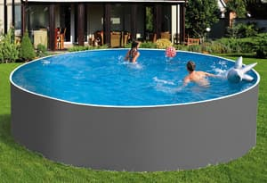 Сборный бассейн ЛАГУНА 24419 круглый 244х125 см (серый)