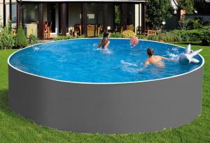 Сборный бассейн ЛАГУНА 48819 круглый 488х125 см (серый)