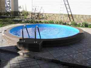 Сборный бассейн ЛАГУНА 48811 круглый 488х125 см (шоколад)