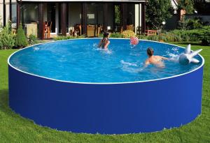Сборный бассейн ЛАГУНА 36617 круглый 366х125 см (синий)